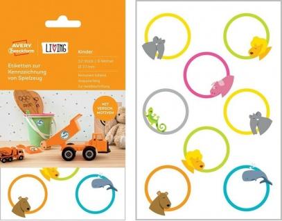 Avery 32 Kinder Namens-Aufkleber Spielzeug-Etiketten Haushalts-Etiketten Sticker