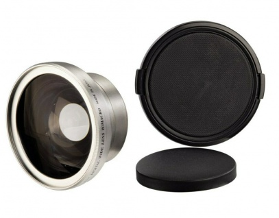 Hama Weitwinkel-Objektiv M43 43mm Video HTMC 0, 5x Makro HD Camcorder Kamera M 43