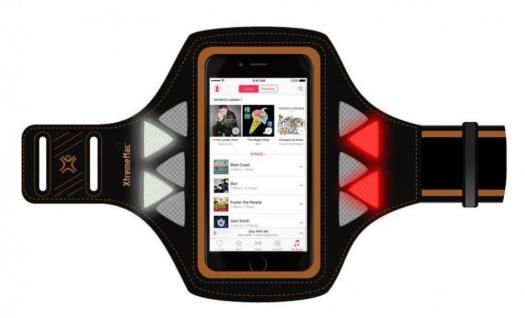"""XtremeMac LED-Licht Armband Sport-Tasche Hülle für Handy bis 5"""" iPhone X 8 7 6"""