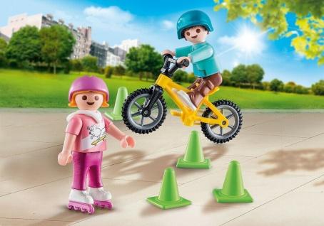 Playmobil Kinder mit Skates und BMX im Park special PLUS Freizeit Spielzeug
