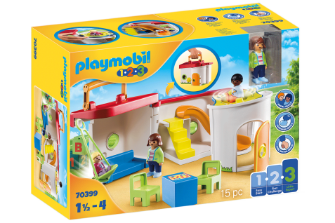 Playmobil 70399 Mein Mitnehm-Kindergarten Famile Kinder Koffer Spielen Unterwegs