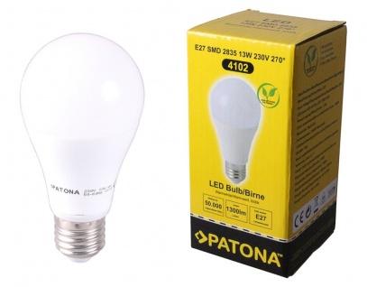 Patona LED-Lampe Glüh-Birne E27 13W/120W Warm-Weiß 3000K 1300 Lumen Leuchtmittel