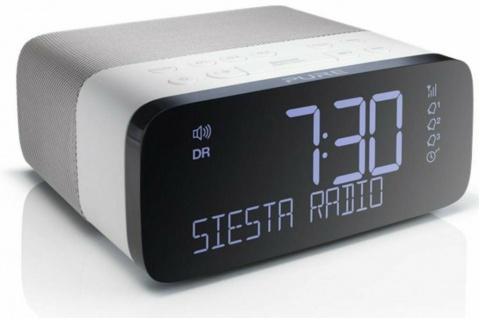 Pure Siesta Rise Digital-Radio Radio-Wecker Uhren-Radio FM UKW DAB DAB+ RDS USB
