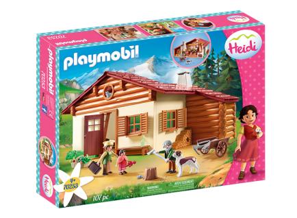 Playmobil 70253 Heidi und Großvater auf der Almhütte Berge Natur Holzhütte Alpen