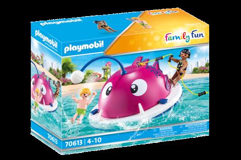 Playmobil 70613 Kletter-Schwimminsel Wasser Planschbecken Spielzeug mit Figuren