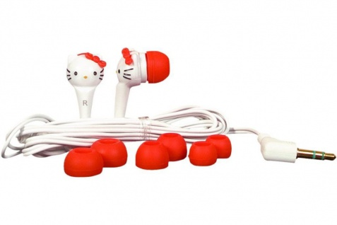 Hello Kitty Headset Kopfhörer 3, 5mm Klinke für MP3 Player Sony Samsung Creative