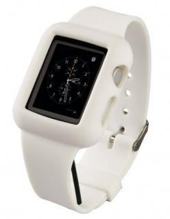 Hama Silikon Uhren-Band Armband Sport-Band Hülle für Apple Watch 38mm Series 0-3