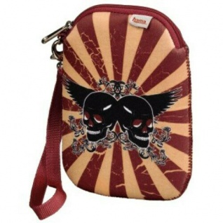 """Hama HDD Tasche Case 2, 5"""" Festplatte Flying Skull Cover Festplatten-Tasche"""
