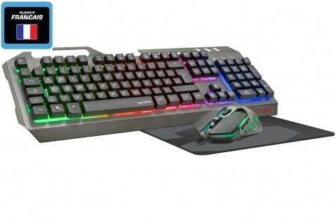 Speedlink USB Gaming Tastatur + Maus + Mauspad FR Französich Frankreich AZERTY