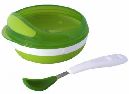 OXO Tot Fütterteller + Silikon Löffel Schüssel Teller zum Baby Füttern Geschirr