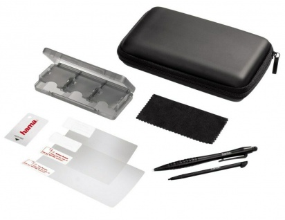Hama 8in1 Zubehör-Set Tasche Game-Case 2x Stift für Nintendo New 3DS XL / 3DS XL