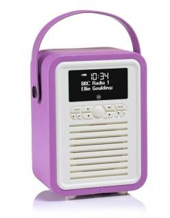 VQ Retro Mini Digital-Radio Orchid DAB DAB+ FM Bluetooth Weckfunktion AUX Wecker