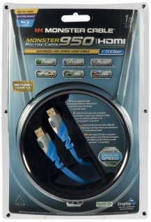 Monster HDMI-Kabel 1m Metall-Stecker Ethernet Full-HD TV 3D für Blu-Ray Player