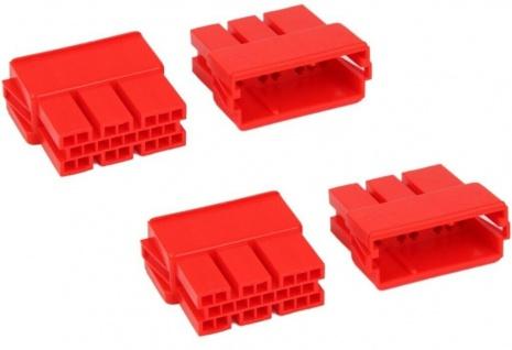 2x AIV Mini ISO Buchse 20-Pol Leer-Gehäuse Auto-Radio Adapter Kabel Kombo-Buchse