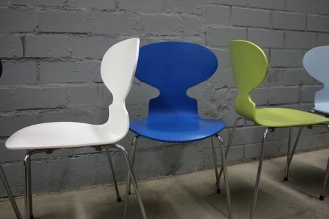 Design Fritz Hansen by Arne Jacobsen 3101 Stuhl Ameise Chair 4-Bein stapelbar - Vorschau 4
