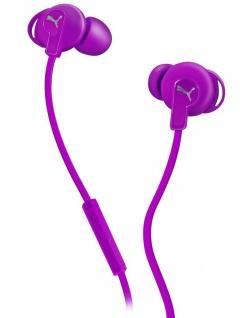 Puma Bulldogs Headset In-Ear + Mic Purple Sport Kopfhörer Ohrhörer Fernbedienung
