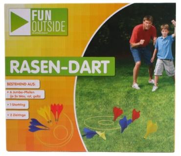 Fun Outside Rasen Dart Set Wurf-Spiel Party-Spiel Garten Spielzeug Strand Pfeil
