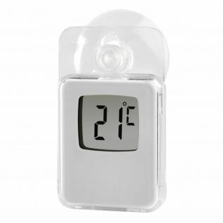 Hama Digitales Fensterthermometer für Innen und Außen Saugnapf Temperatur