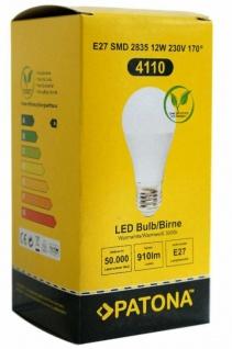 Patona 4x LED Birne E27 12W/75W Warm-Weiß 3000k LED-Lampe Glühbirne Leuchtmittel - Vorschau 3