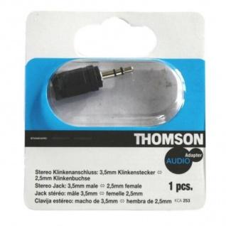 Thomson Adapter Klinke 2, 5mm Klinken-Buchse - 3, 5mm Klinken-Stecker Kupplung