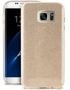 Puro Shine Glitzer Cover Schutz-Hülle Case Tasche für Samsung Galaxy S7 Edge S7E