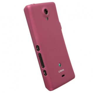Krusell Color Cover PINK Case Tasche für Sony XPERIA T TL Schutz-Hülle Hardcover