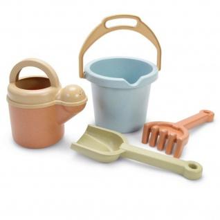 Dantoy Bio Gartenspielzeug Sandkasten-Spielzeug für Kinder Schaufel Eimer Rechen