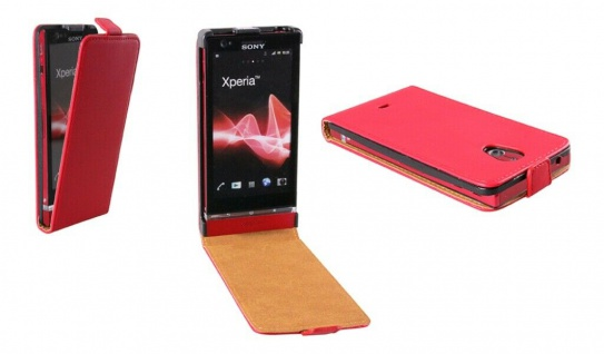 Patona Slim Flip-Cover Klapp-Tasche Schutz-Hülle Case für Sony LT30i Xperia T