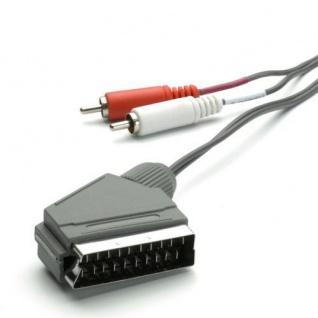 Vivanco Scart-Kabel Scart - 2x Cinch-Stecker Audio-Kabel für TV HiFi Verstärker