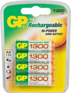 GP Batteries Premium 4x AA-Akku 1300mAh 1, 2V Mignon HR6 Batterie AA Akkus Ni-MH