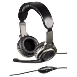 Hama PC Headset Kopfhörer HS-330 Mikrofon Fernbedienung für Skype MSN VoIP ICQ