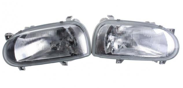 Hella Satz Haupt-Scheinwerfer Halogen Front-Lampe für VW Golf III 3 1H 1H1 1H5