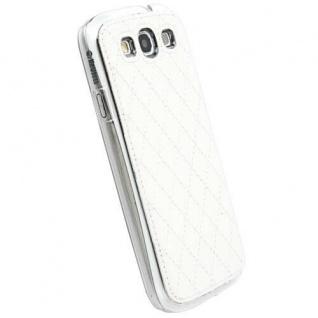 Krusell Avenyn Cover weiß Case Tasche für Samsung Galaxy S3 SIII Hülle Hardcover