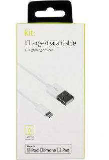 Kit USB-A auf Lightning-Stecker USB-Kabel 1m Ladekabel Datenkabel für Apple MFI