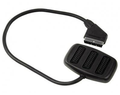 Hama Scart-Verteiler 3-Fach Umschalter Box Scart-Kabel Adapter 1>3 TV AV Stecker