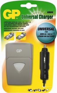 GP KB04 Power-Bank Ladegerät + KFZ Adapter AA/AAA + Kamera Camcorder Handy Akkus