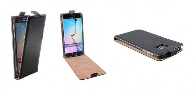 Patona Slim Flip Klapp-Tasche Schutz-Hülle Cover Case für Samsung Galaxy S6 Edge