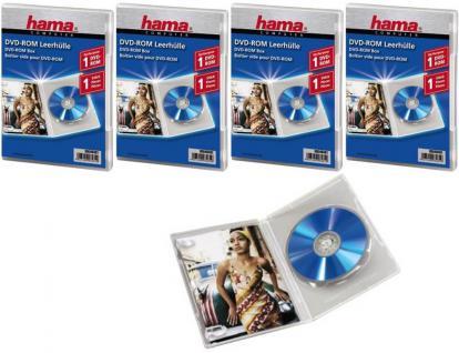Hama 5x DVD DVD-ROM Blu-Ray CD Leerhülle Klar Schutz-Hülle DVD-Hüllen Case Box