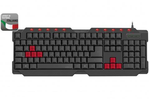 Speedlink FERUS USB Gaming Tastatur Italien IT ITA QWERTY Keyboard-Layout Gamer