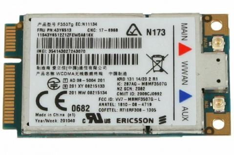 WWAN UMTS 3G Modul Karte für IBM Lenovo ThinkPad X200 T400 T500 W500 SL500 SL510