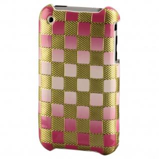 Hama Handy-Cover Caro Gold Pink Schutz-Hülle Case Tasche für Apple iPhone 3G 3GS