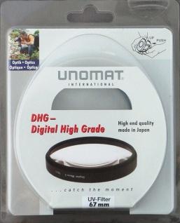 Unomat UV-Filter 67mm UV Filter Speerfilter DHG vergüted für DSLR Objektiv Foto