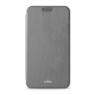 Puro Design Flip Case Wallet Black Klapp-Tasche Hülle Bag für Samsung Galaxy S7