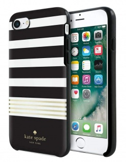 Kate Spade New York Stripe Hardshell Cover Case Hülle Bag für Apple iPhone 7 + 8
