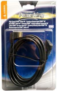Hama HQ 3m HDMI-Kabel 90° Grad Stecker Winkel gewinkelt 3D 1080p HD TV LED LCD