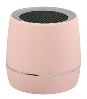 Hama Mobiler Mini Lautsprecher mit Akku Rosa 3, 5mm Klinke Reise Box tragbar