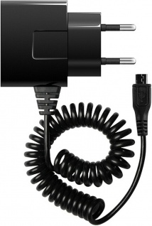 Cellux Micro USB Reise-Ladegerät 1.0 A für Handy Tablet 1m Spiral-Kabel Schwarz