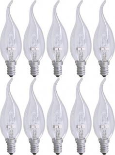10x PACK GP Halogen-Kerze Windstoß-Kerze E14 30W / 40W Flamme Glüh-Lampe Leuchte