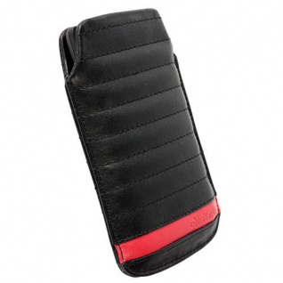 Krusell Idre Pouch L Black Case Leder-Tasche für Apple iPhone 5S 5C 5 Etui Hülle