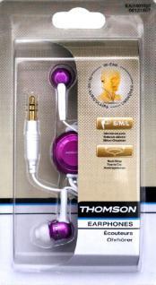 Thomson In-Ear Kopfhörer Ohrhörer Pink 3, 5mm für iPod Nano Touch Shuffle Classic